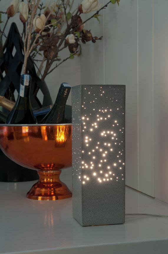 DIY: Lampe en Béton et fibres optiques   Cours BTP