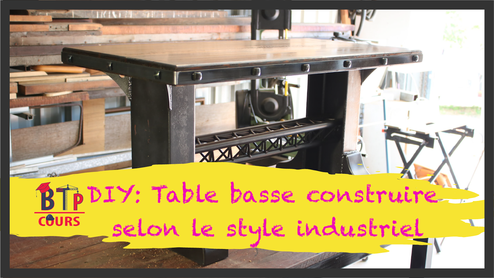 Plan De Travail Diy diy: table basse construire selon le style industriel