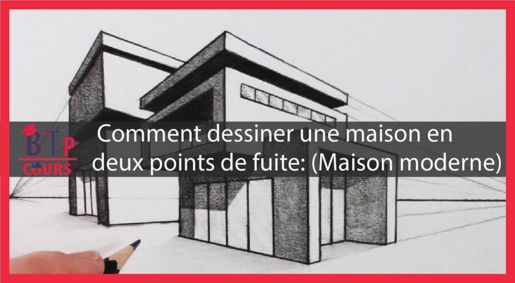 Comment dessiner une maison en deux points de fuite? (Maison ...