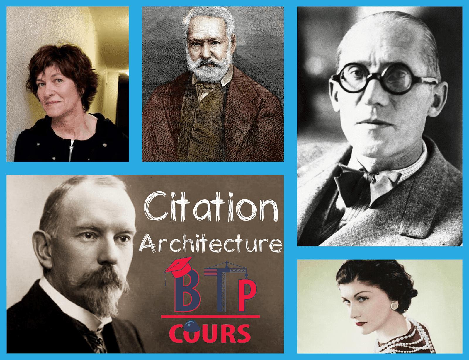 Citation Architecture Cours Btp