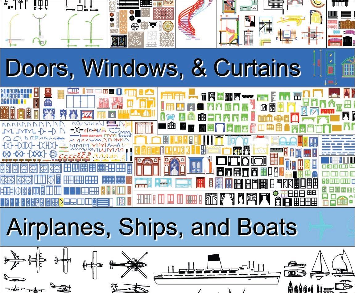 Jeune Autocad ressources: Gigantesque bibliothèque de block | Cours BTP XU-97
